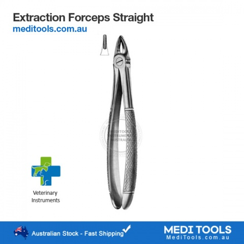 Veterinary Extraction Forceps Curved