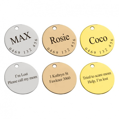 Pet ID Tag - Stainless Steel