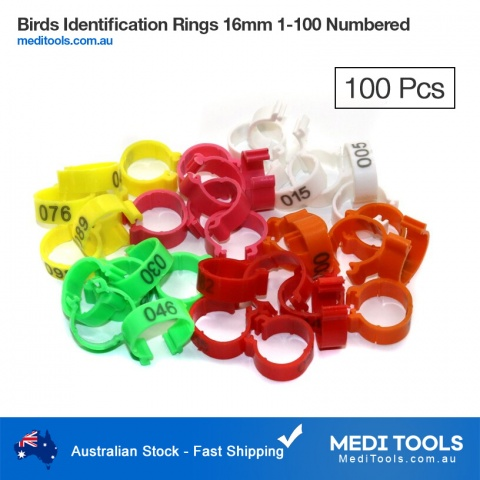 Bird Identification Rings 25mm 1-100 Numbered