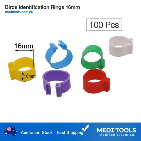 Birds Identification Rings 16mm