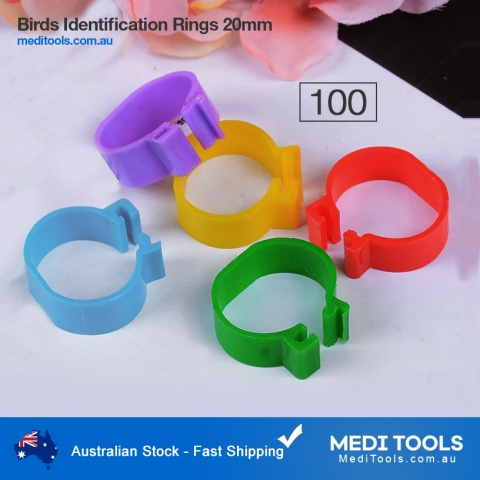 Identification Chicken Bands 20mm