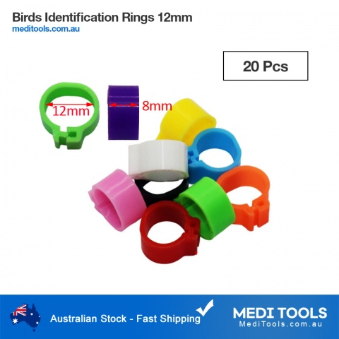 Birds Identification Leg Rings 10mm