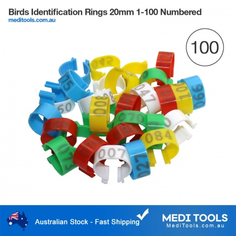 Birds Identification Rings 8mm 100Pcs