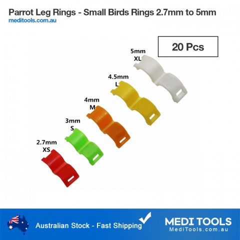 Birds Identification Leg Rings 7.5mm Aluminum