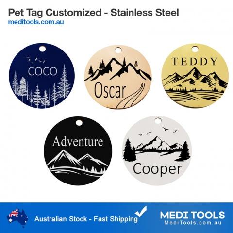 Custom, Dog Tags, Slide on, Dog ID tag, small dog ID tag