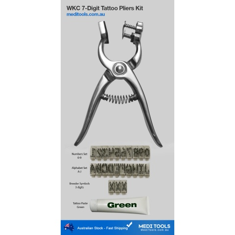 WKC 5-Digit tattoo pliers kit